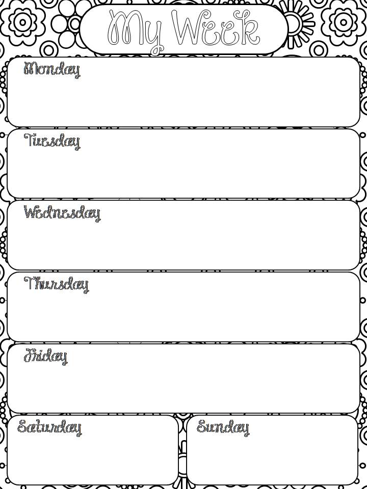 Word 2013 Daily Planner